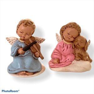 Vintage Ceramic Angels Set